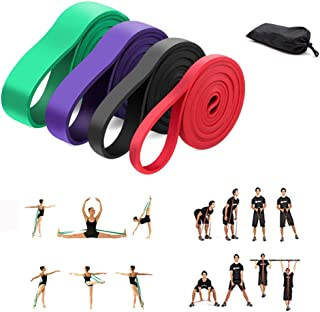 GUOJIAYI 6 Level Yoga Bands for Stretching Resistance Loop Bands Fitness Training Pull Rope Rubber Bands Yoga Exercise Gym...
