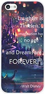 Deco Fairy iPhone 7 / 8 Case Cover - Famous Quotes Laughter is Timeless Imagination Has No Age And Dreams are Forever