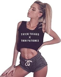 YITAN Women Graphic Sleeveless Tank Crop Top Teen Girls Cute Gym Tee Shirt