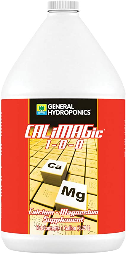 General Hydroponics CALiMAGic 1-0-0, Concentrated Blend of Calcium & Magnesium, Secondary Nutrient Deficiencies Helps Prevent Blossom End Rot & Tip Burn, Clean, Soluble, 1 Gallon