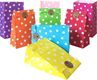 Artseen Party Favor Bags, 64 Party Bags and 72 pcs Sticker, for Birthday, Wedding and Party Celebrations (9.4 x 5.1 x 3.1 ...