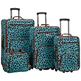 Best luggage sets - Rockland Jungle Softside Upright Luggage Set, Blue Leopard Review