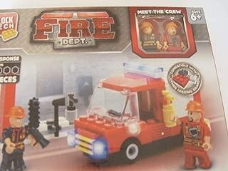 Block Tech Fire Dept. City Response with 2 Figures 122 Piece