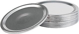 12 pcs Regular Mouth Canning Lids, Split-Type Lids Reusable Leak Proof Storage Solid Caps Metal Canning Jar Lids for Mason...