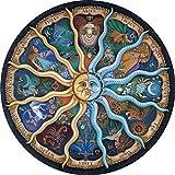 GuDoQi Puzzle 1000 Piezas Adultos Rompecabezas Zodiaco Redondo para Infantiles Adolescentes