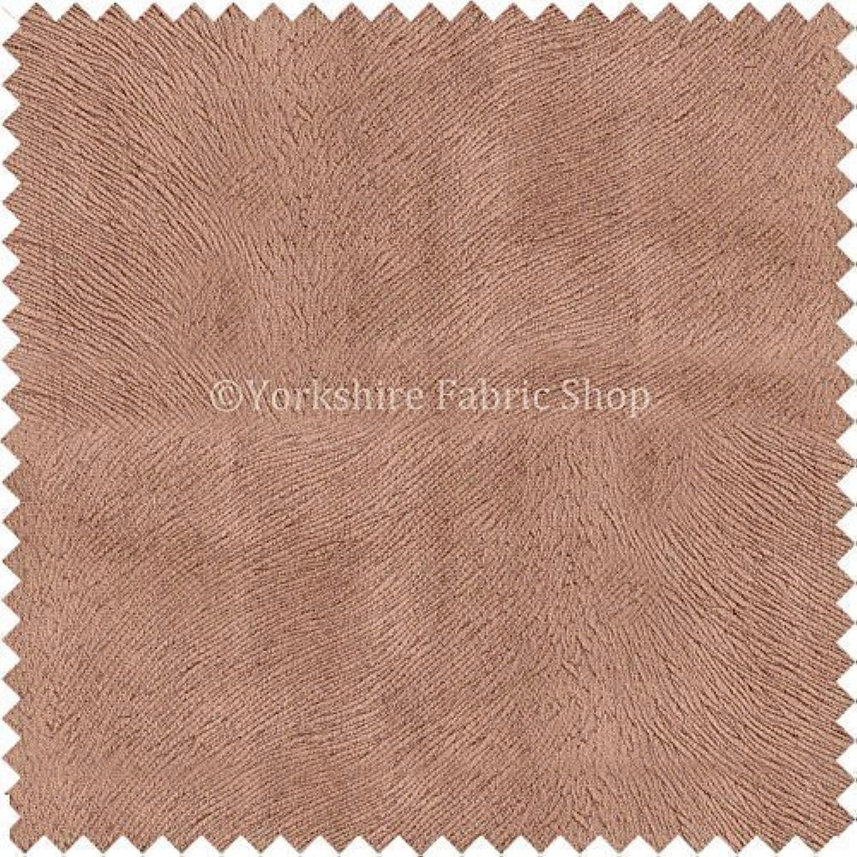 Yorkshire Fabric Shop New Uni Braun gemasert Farbe weicher SAMT Möbelstoff in selbst Muster Design B01MRE1VQ6 | Helle Farben