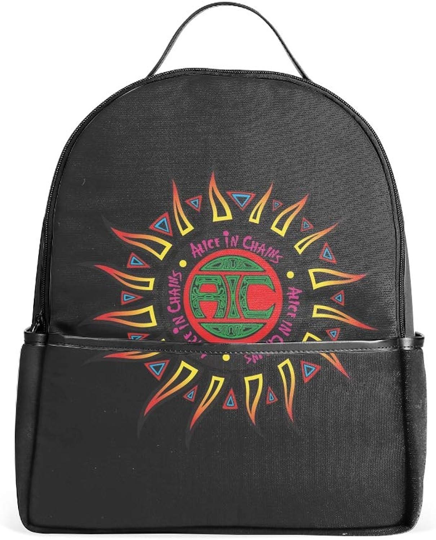 Punk Logo School Bookbags for Girls, Cute Casual Backpack College Bags Women Daypack Travel Bag