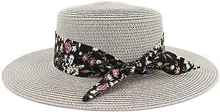 LiWen Zheng Summer Hats For Women Sun Hat Female Panama Beach Visor Flower belt Straw Flat Bucket Hat Femme