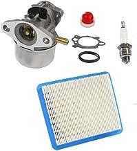HURI Carburetor with Gasket Air Filter Primer Bulb Spark Plug for Briggs & Stratton 14111 Craftsman 625 498170 6150 Engine