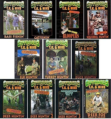 TK & Mike Complete Set of Eleven Hunting & Fishing Comedy DVD by TK & Mike