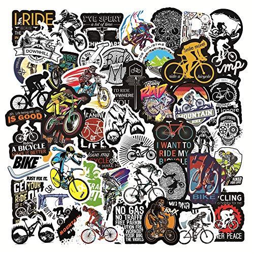 BLOUR 50 Uds, Pegatina para Bicicleta, protección de Marco, PVC, Impermeable, Carretera, MTB, calcomanía para Bicicleta, para DIY, Ordenador portátil, teléfono, monopatín, Equipaje