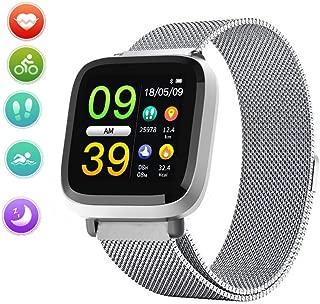 MOZEEDA 1.3 Inch Waterproof Fitness Tracker Smart Watch with Heart Rate Monitor, Sleep Monitor Step Counter Pedometer Activity Tracker Band
