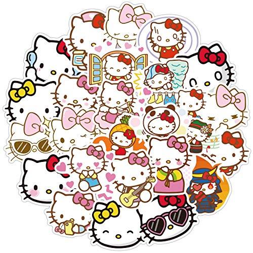 MBGM Hello Kitty etiqueta engomada maleta equipaje chica corazón personalizado guitarra skate etiqueta