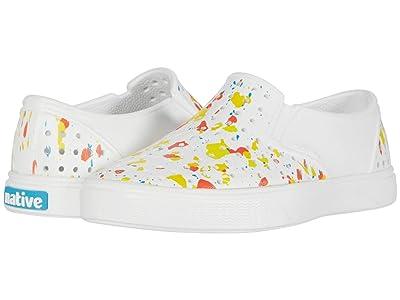 Native Kids Shoes Miles Print (Little Kid) (Shell White/Shell White/Vibrant Quartz) Boy