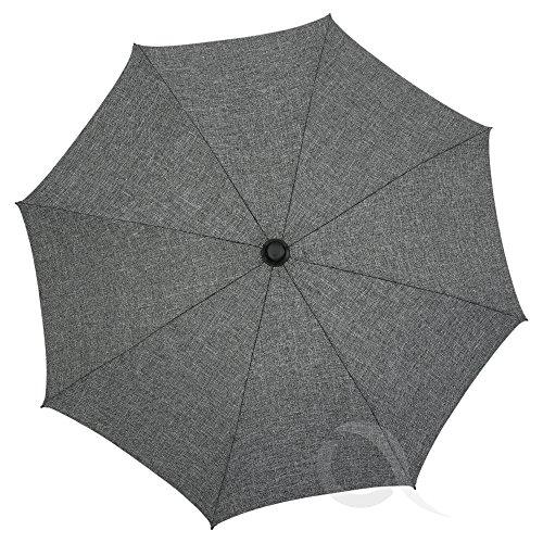 Baby Sun Umbrella Parasol Buggy Pushchair pram Stroller Shade Canopy Melange (Grey)