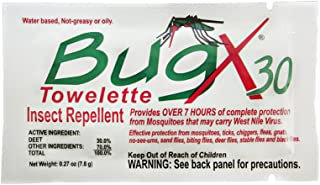 Bug X Insect Repellent Towelettes, 25-Count