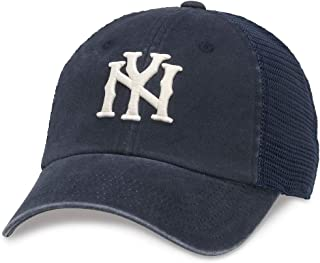 American Needle Raglan Bones Mesh Dad Hat, New York, Navy (41150B-NY)
