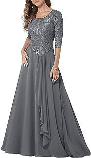 Women's Ha Sleeves Modest Mother of The Bride Dress Long Prom Dress
