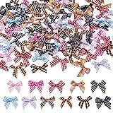 Cheriswelry 110 lazos de cinta a cuadros de mini guingán, cinta de cuadros,...