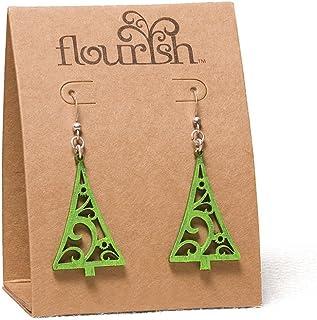 Enesco Flourish Gift Tree Earrings, 1.5-Inch