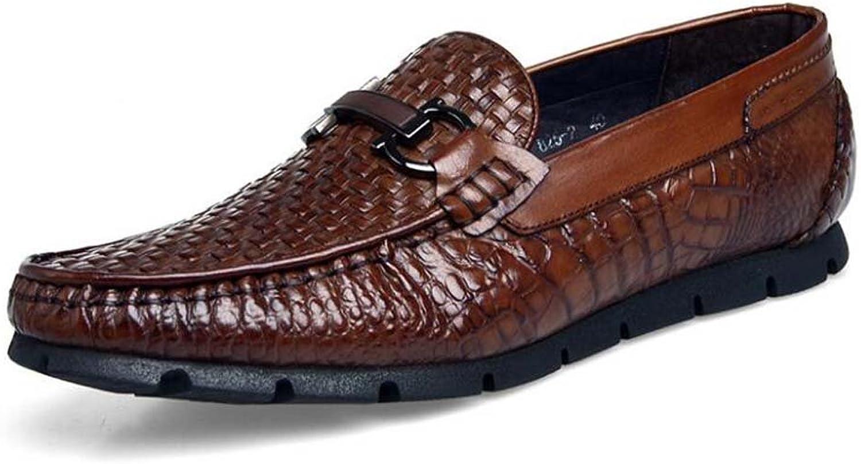 Men's Peas sautope Leather He-Woven Casual sautope Sautope Britanniche di Alta Gamma