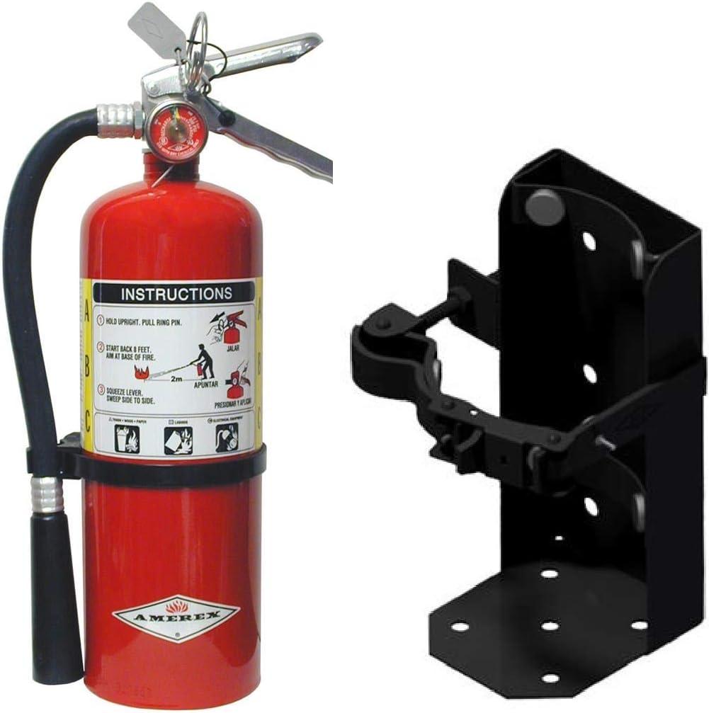 5lb ABC Dry Chemical トレンド Fire Extingusher 往復送料無料 Heavy W Duty Vehicle Brack