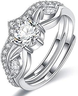 خاتم واحد من جي إم دي إس خاتم تاج عين حصان زركون خاتم قابل للإزالة