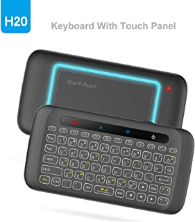 Mini Backlight Keyboard, WeChip 2.4G Wireless Keyboard Smart Touch Pad Remote Control with IR Learning Function for Androi...
