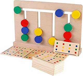 Wooden four-color game Montessori enlightenment teaching aids children's toys