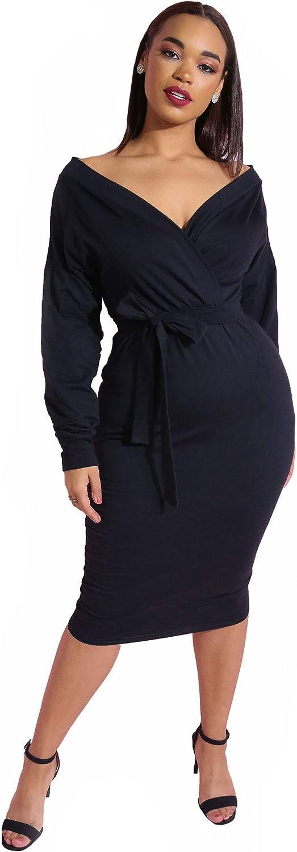Rebdolls Women's Cocktail Over The Shoulder Cotton Midi Dress - Plus Sizes
