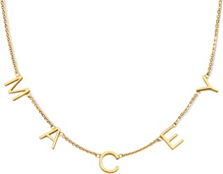 dangling letter name necklace