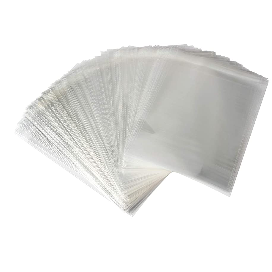 Sannigora 200pcs Clear Resealable Adhesive Cello/Cellophane Treat Bags - Self Sealing OPP Plastic Bag Great for Bakery Candy Cookies Birthday Party Favors and More (9' x 12'')