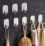 zunto 8 pezzi ganci adesivi, ganci portasciugamani in acciaio inox gancio appendiabiti per cucina e bagno