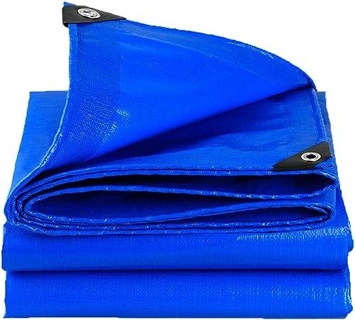 LXLA- Bache imperméable bleue avec oeillets - Couvertures de prougeection anti-pluie pour toiles de camping pêche jardinage animaux domestiques - 180g   m2 (Taille   5m x 6m)