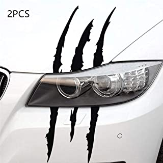 BOLLAER 2pcs Claw Marks Headlight Decal for Car Headlamp, Ghost Grab Car Sticker Reflective Sticker for Car Decoration