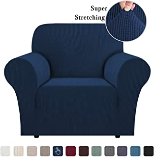 Stretch Jacquard Stretch Sofa Slipcover 1 Piece Sofa Covers Chair Covers for Living Room Skid Resistance Sofa Cover Stylish Form Fitted Furniture Cover Couch Covers for Chair, Navy