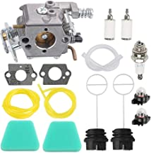 Hayskill 545081885 Carburetor with Air Filter Fuel Spark Plug Tune Up Kit for Craftsman 358351143 944414430 358351142 358360280 358350563 35831440 358360131 358350060 358351061 Chainsaw
