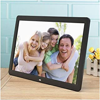 HUALEIYUAN AU 12 inches LCD Display Multi-Media Digital Photo Frame with Holder/Music/Movie Player Digital Frame (Color : ...