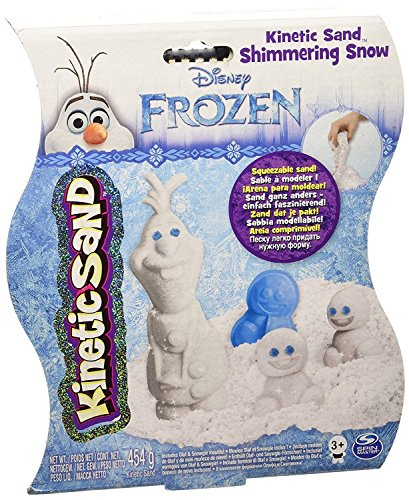 Disney Frozen Toy - Kinetic Sand Shimmering Snow Playset - Includes Olaf and Snowgie Moulds