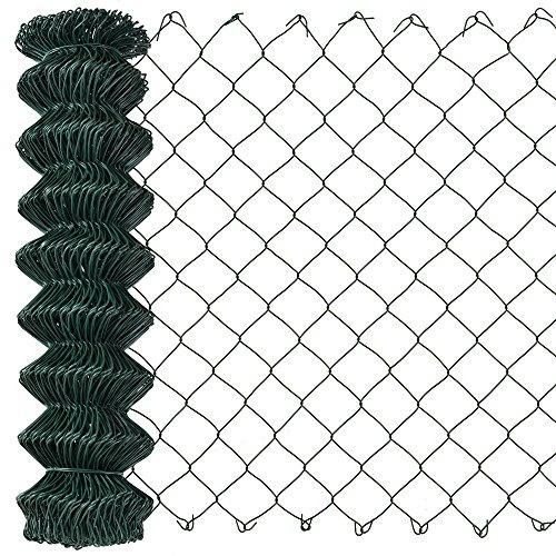 [pro.tec] Malla de alambre verde galvanizado (1m x 25m) Valla de tela metálica soldada - cerca de alambre