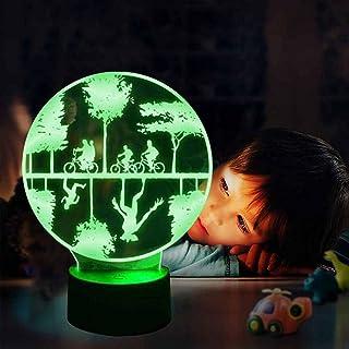 C Vreemdeling Dingen 3D Nachtlampje LED Illusie Speelgoed Lamp 16 Kleurverandering Kinderkamer Decor Lamp met Afstandsbedi...