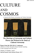 Culture and Cosmos Vol 21 1 and 2: Marriage of Astronomy and Culture: Theory and Method in the Study of Cultural Astronomy
