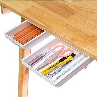 Desk Pencil Drawer Organizer, Large Capacity Pop-Up Student Storage Hidden Desktop Drawer Tray, Great for Office School Ho...