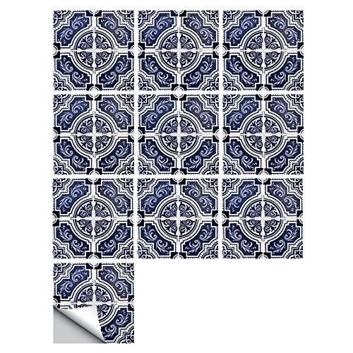 caixy Vinilos cocina azulejos Empalme pequeñas pegatinas de azulejos de simulación floral decoración de renovación del hogar pegatinas de pared impermeables autoadhesivas,Color_15,30*30cm×10pcs,PVC