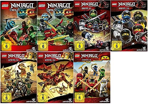 Lego Ninjago Staffel 7-10 (7.1+7.2+8.1+8.2+9.1+9.2+10) [DVD Set]