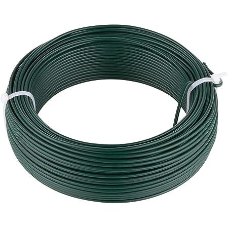 Attache-FIL 25 M de serrage fil Ø 2,0 mm Fleurs Fil Basteldraht clôture fil rôle Vert