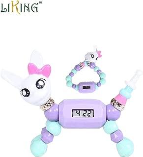 twisty magical pets -Magic Bracelet Rabbit Charm Bracelet back-to-school season - Transfer from Magic Bracelet to Magic Pets Backbag Accessory Necklace Hair Decoration for Kids (Rabbit))