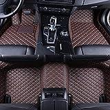 QOHFLD Alfombrillas Coche Personalizadas 3D Protección Alfombras Antideslizante de Cuero Alfombrillas Cobertura Total Accesorios Coche Siete Seta para Audi Q7 2016-2019