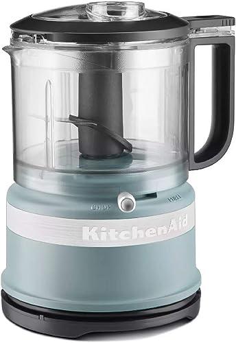 KitchenAid 3.5 Cup Food Chopper Exclusive Matte Fog Blue Color (Renewed)