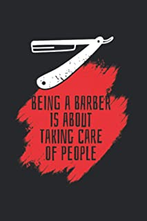 Being A Barber Is About Taking Care Of People: Beard And Barber 2021 Planner | Weekly & Monthly Pocket Calendar | 6x9 Soft...